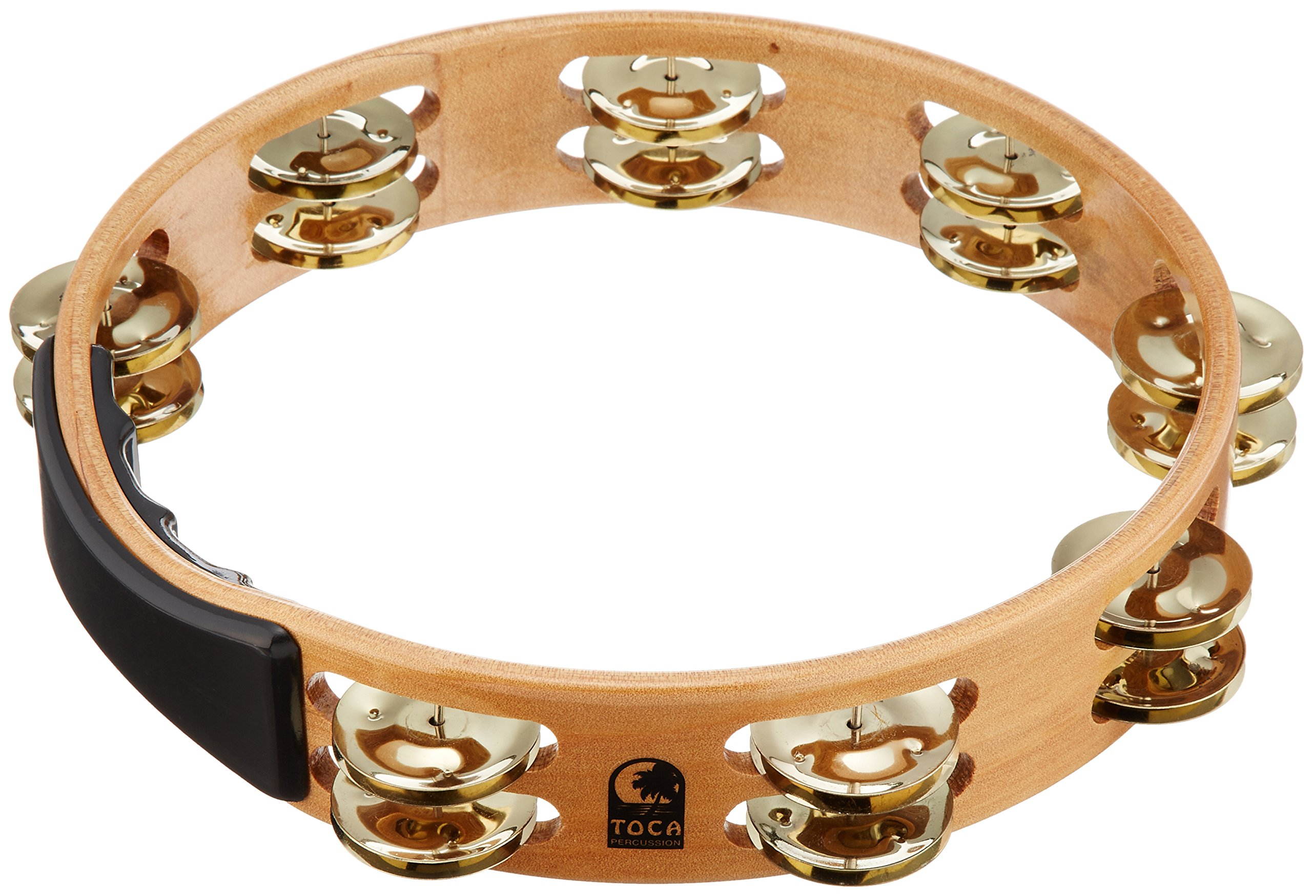 Toca Acacia Tambourine With Brass Jingles 10 Inch