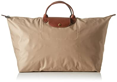 a7313e3375da Image Unavailable. Image not available for. Color: LongChamp Women's Le  Pliage Beige XL Duffel Bag Weekender