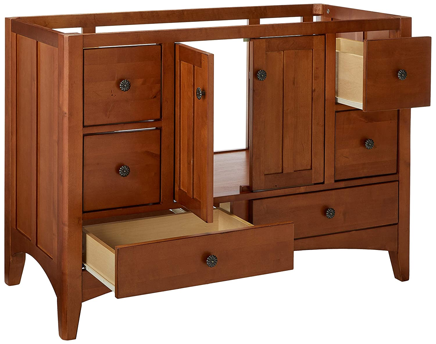 """SUNNYWOOD PRODUCTS Expressions 48"""" Wood Vanity Cabinet ..."""