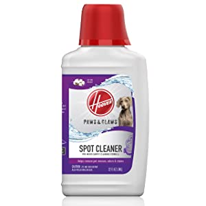 Hoover Paws & Claws Premixed Spot Machine Cleaning Shampoo, Pet Stain Solution and Odor Remover, 32oz Cleaner Formula, AH30940, White