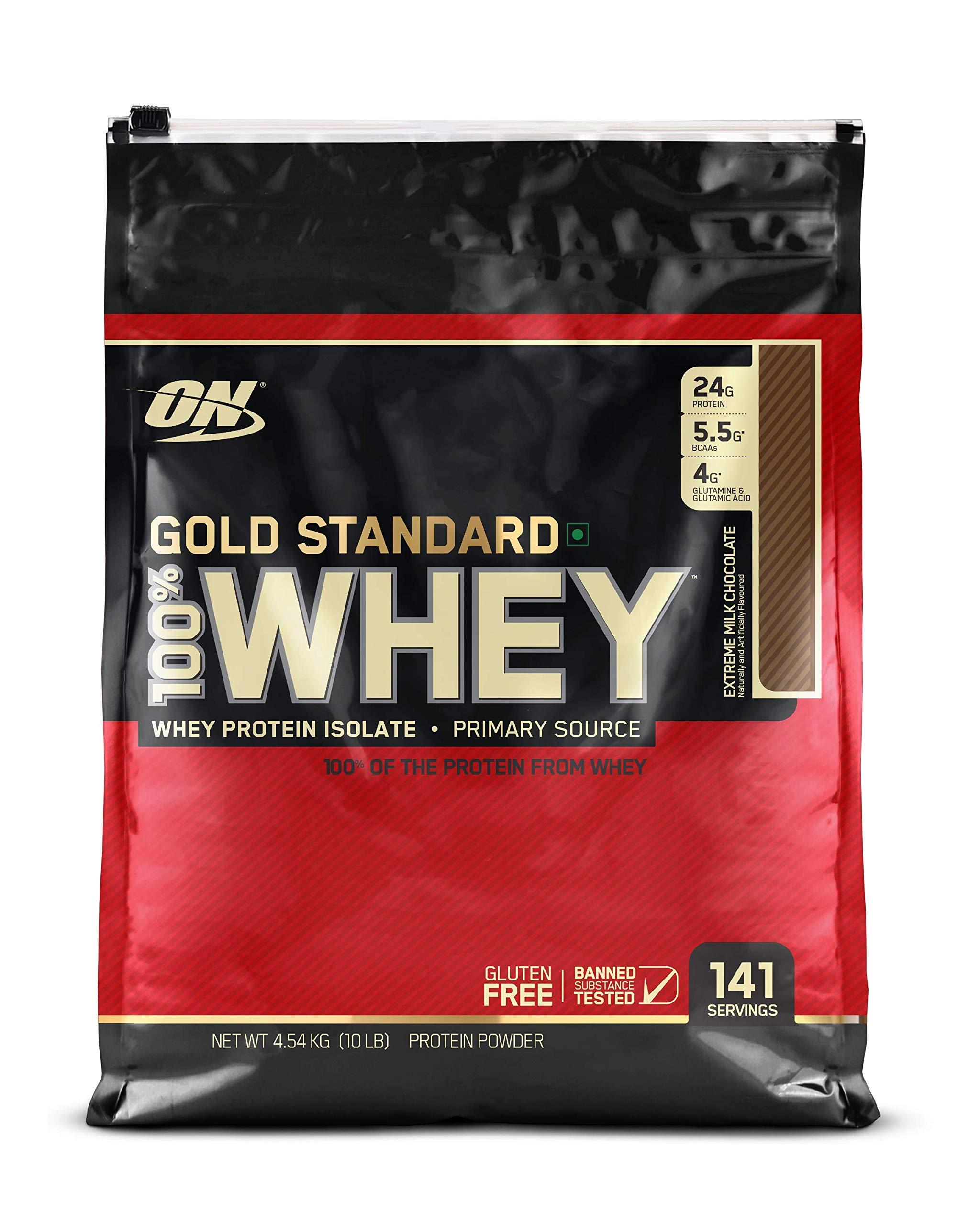 OPTIMUM NUTRITION GOLD STANDARD 100% Whey Protein Powder, Extreme Milk Chocolate, 10 Pound by Optimum Nutrition (Image #1)