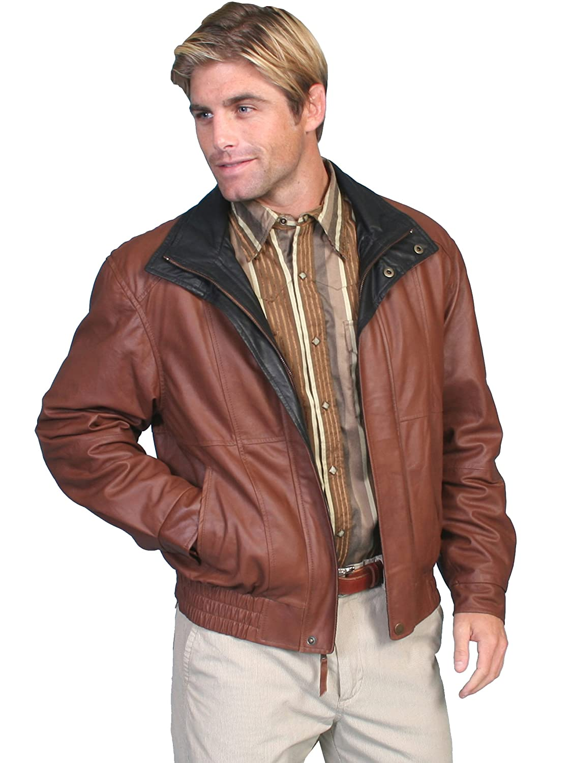 Scully Men's Double Collar Leather Jacket - 48-33 082A35