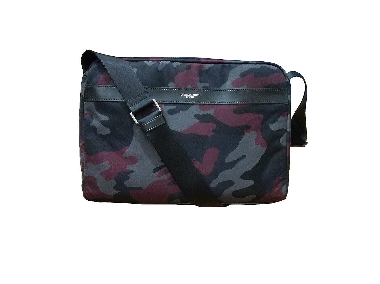 b7815cc8a58124 Michael Kors Mens Kent Large Messenger Bag Malbec Camouflage: Amazon.co.uk:  Clothing