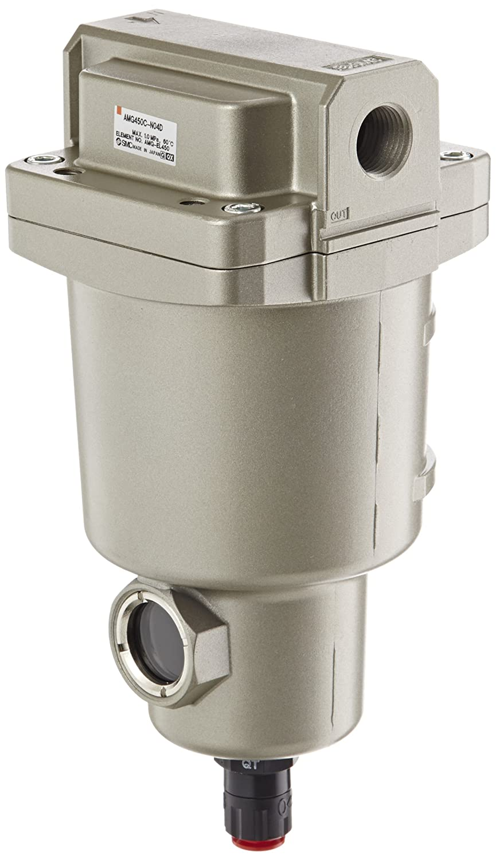 SMC AMG450C-N04D Water Separator, N.O. Auto Drain, 2,200 L/min, 1/2' NPT 1/2 NPT