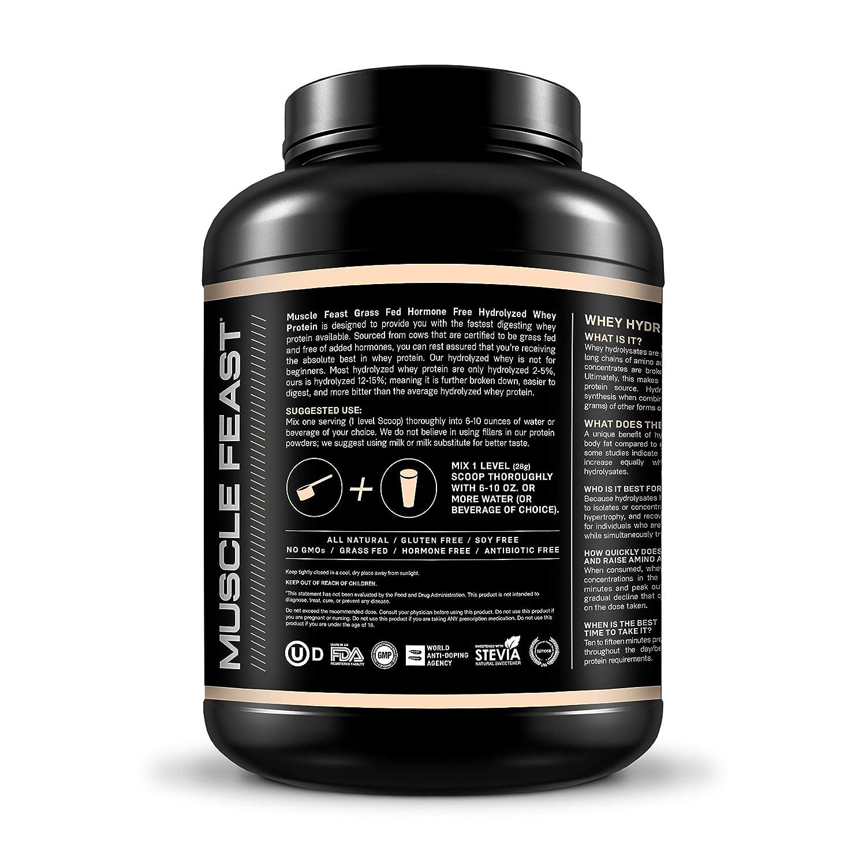 Muscle Feast Hormone Free Grass Fed Hydrolyzed Whey Protein Vanilla, 5lb