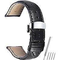 Cinturino orologio 16mm 18mm 19mm 20mm 21mm 22mm 24mm cinturino in vera pelle di vitello sostituzione cinturino con bottone fibbia a bottone a farfalla CHIMAERA