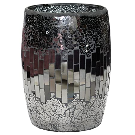Just Contempo Large Cracked Glass Mosaic Indoor Decorative Plant Pot