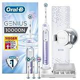Oral-B Genius 10000N Elektrische Zahnbürste, mit Zahnfleischschutz-Assistent und Premium Lade-Reise-Etui, orchid purple
