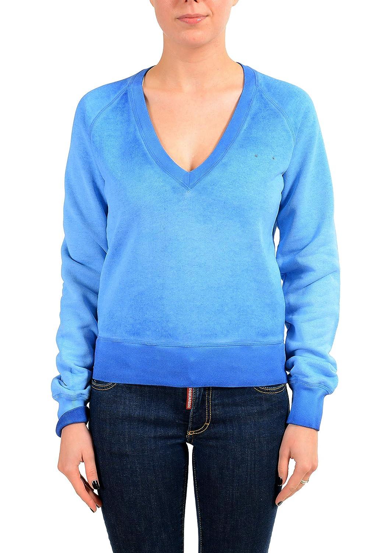 bluee DSQUARED2 Women's bluee VNeck Sweatshirt