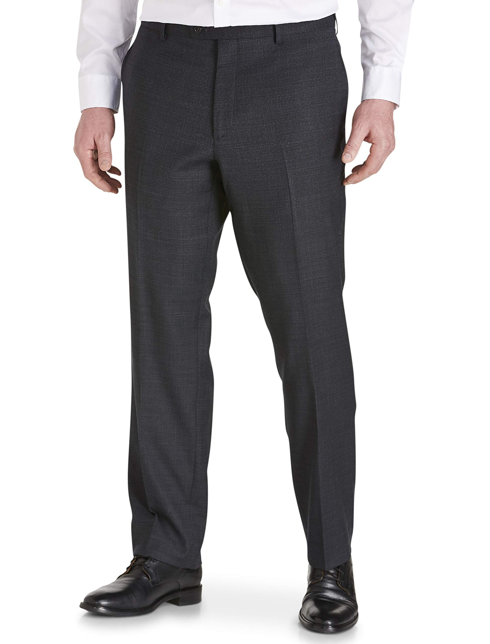 Jack Victor Stretch Reflex Flat Front Suit Pants Black by Jack Victor