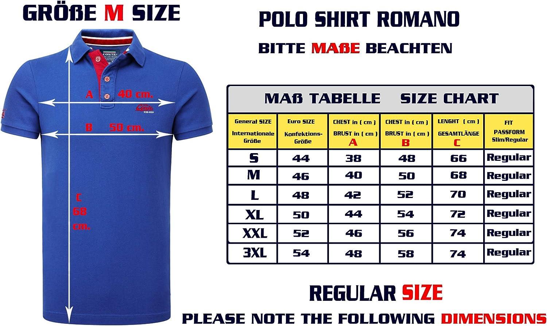 M.Conte Camisa Polo para Hombre Manga Corta de piqué algodón M L XL XXL XXXL Romano: Amazon.es: Ropa y accesorios