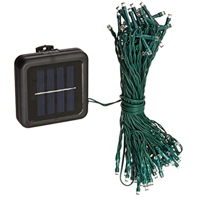 "The Gerson Company 72 Count Warm White LED Umbrella Light Set, Outdoor use 60"" Lead, 8 Strands of 4' Lengths, with 3"" spacing, Green Wire, Includes Zip Ties and Clip On Solar Collector: Home & Kitchen"