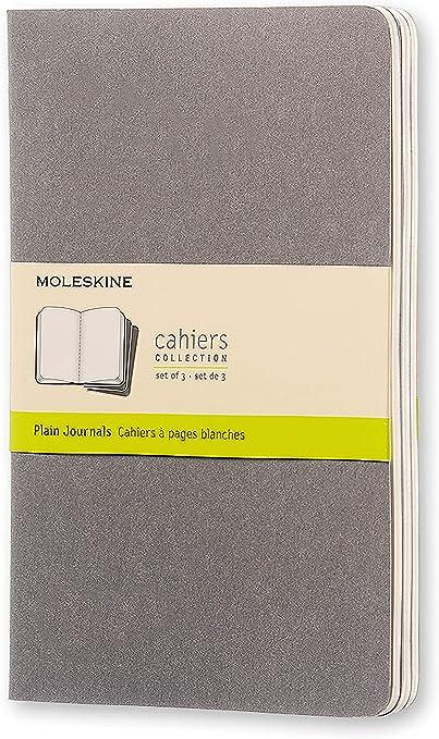 Moleskine Cahier - Set de 3 cuadernos lisos grandes, color gris ...
