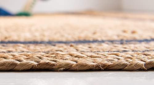 Unique Loom Braided Jute Collection Hand Woven Casual