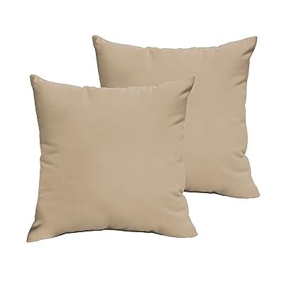 Humble and Haute Sloane Beige 22 x 22-inch Indoor/Outdoor Knife Edge Pillow Set : Garden & Outdoor