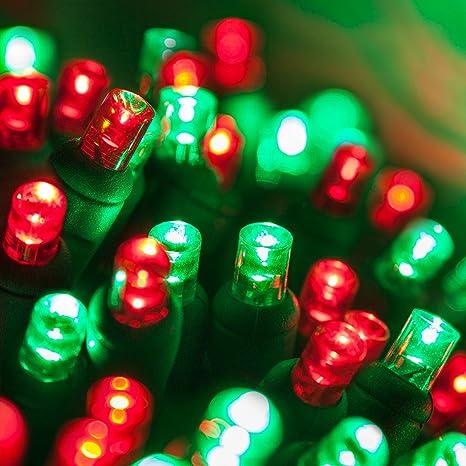 Amazon.com : Red and Green LED Christmas Mini Light Set, 5mm Lights ...