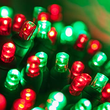 Red and Green LED Christmas Mini Light Set, 5mm Lights, Indoor/Outdoor  Christmas - Amazon.com: Red And Green LED Christmas Mini Light Set, 5mm Lights