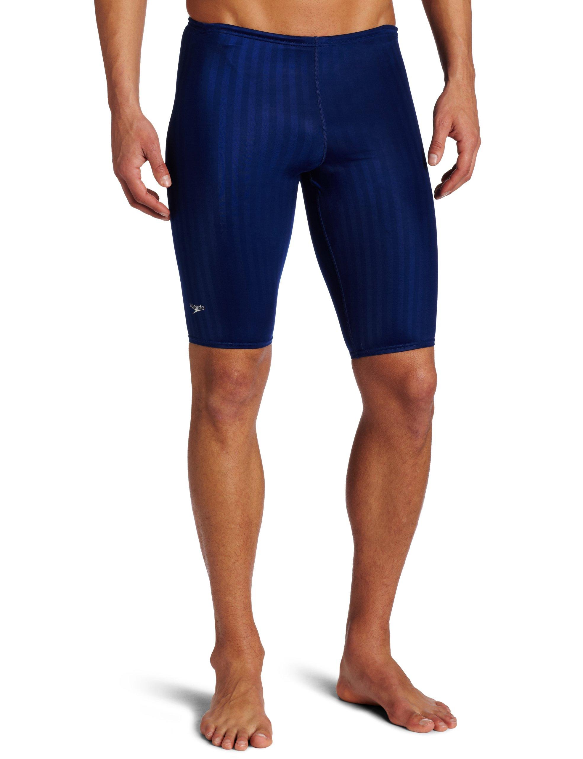Speedo Men's Aquablade Jammer Swimsuit, Navy, 34