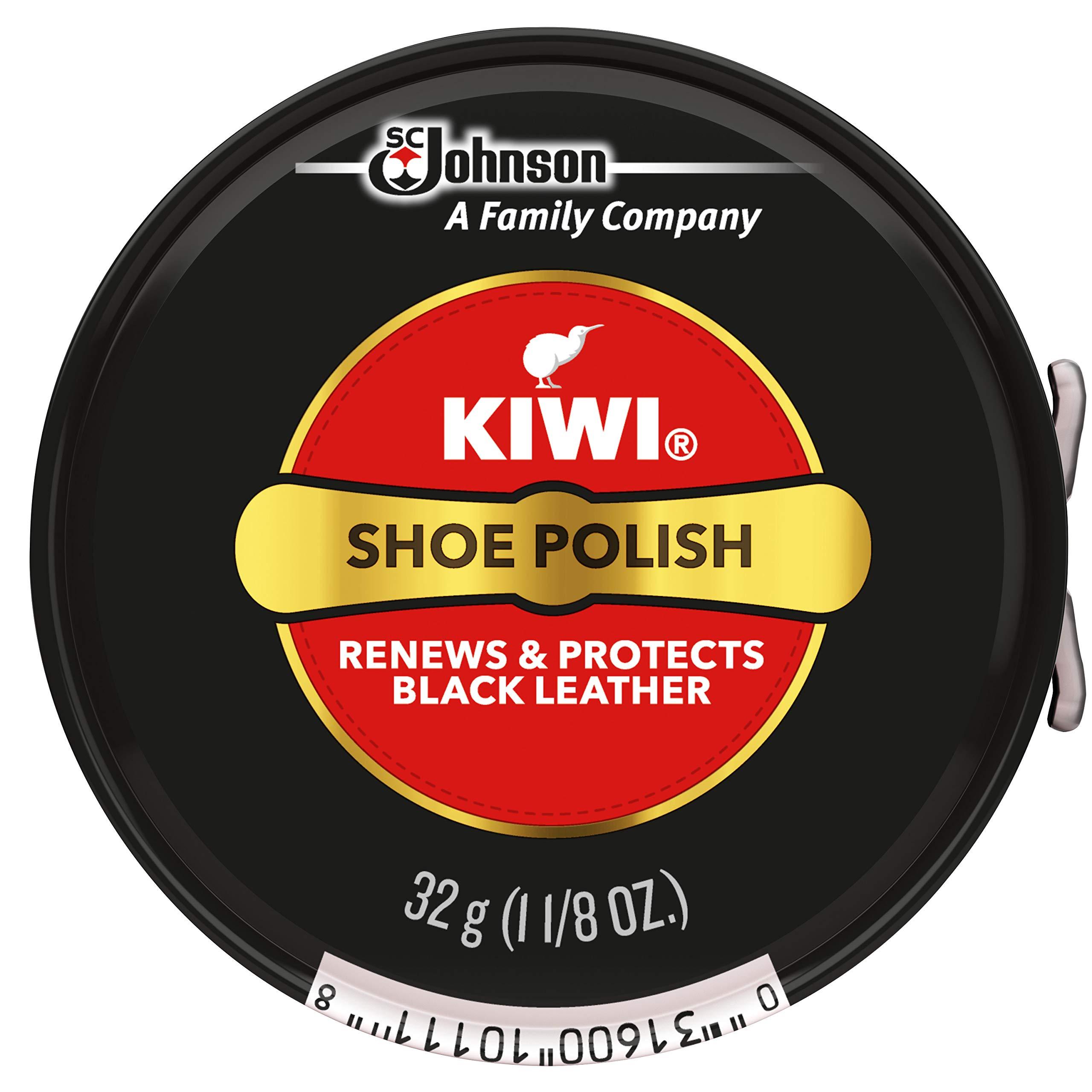 Kiwi Black Shoe Paste Polish 1-1 / 8 onzas, pequeño