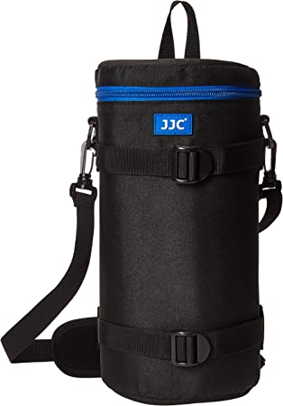 JJC DLP-7II Water Resistant X Large Lens Pouch with Strap fits up to 124 x 310mm