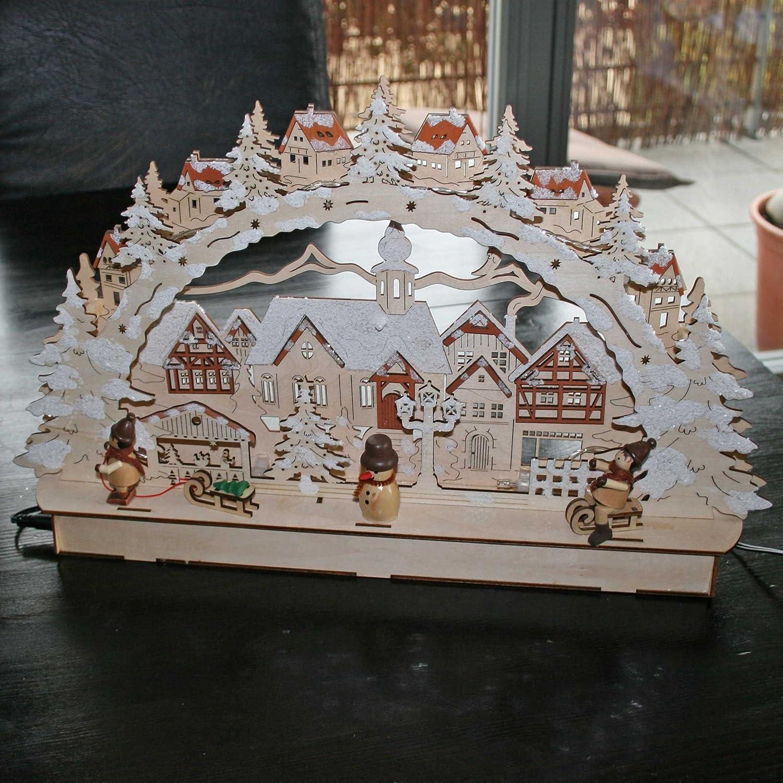 Weihnachtsbeleuchtung Lichterbogen.Fensterdekoration Feste Besondere Anlässe Schwibbogen Lichterbogen
