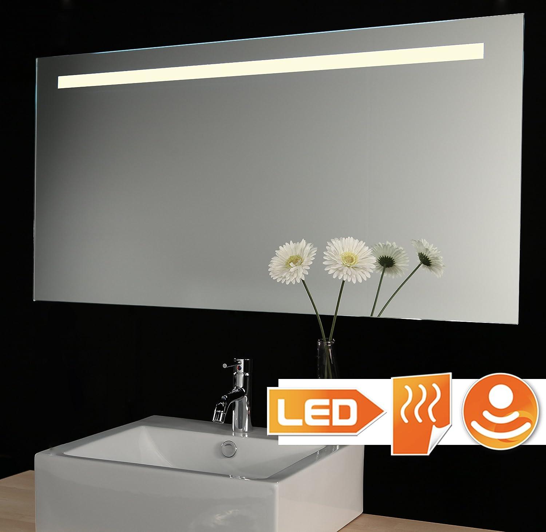 Badspiegel mit LED Beleuchtung, Sensor und Heizfolie 80 x 60 cm ...
