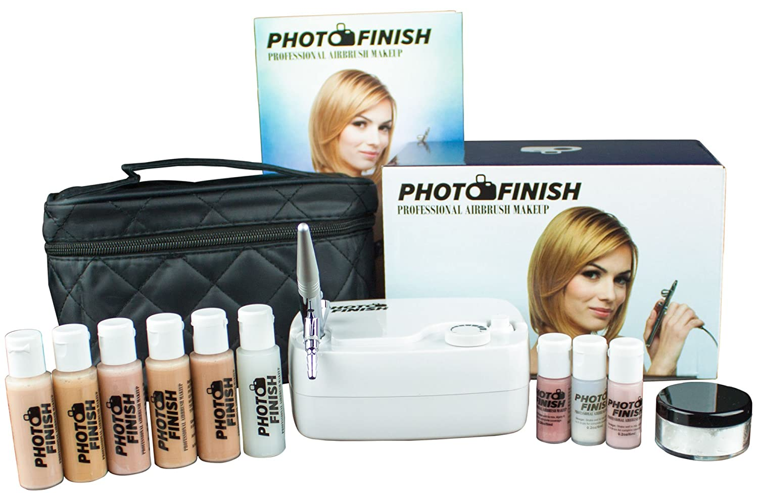Photo Finish Professional Airbrush Cosmetic Makeup Set, Makeup Only Matte Finish