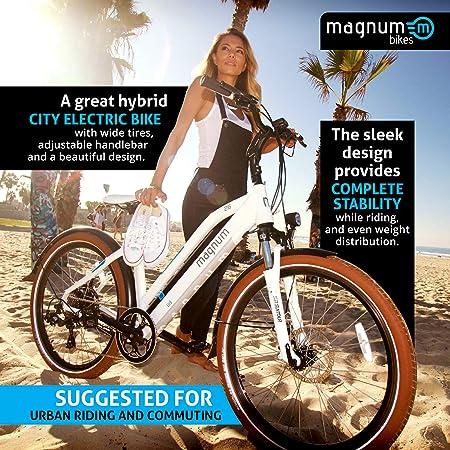 Magnum Ui5 Electric Hybrid City Bike – 350W Motor, Large Capacity 36V13A – Lithium Battery – Rear Rack