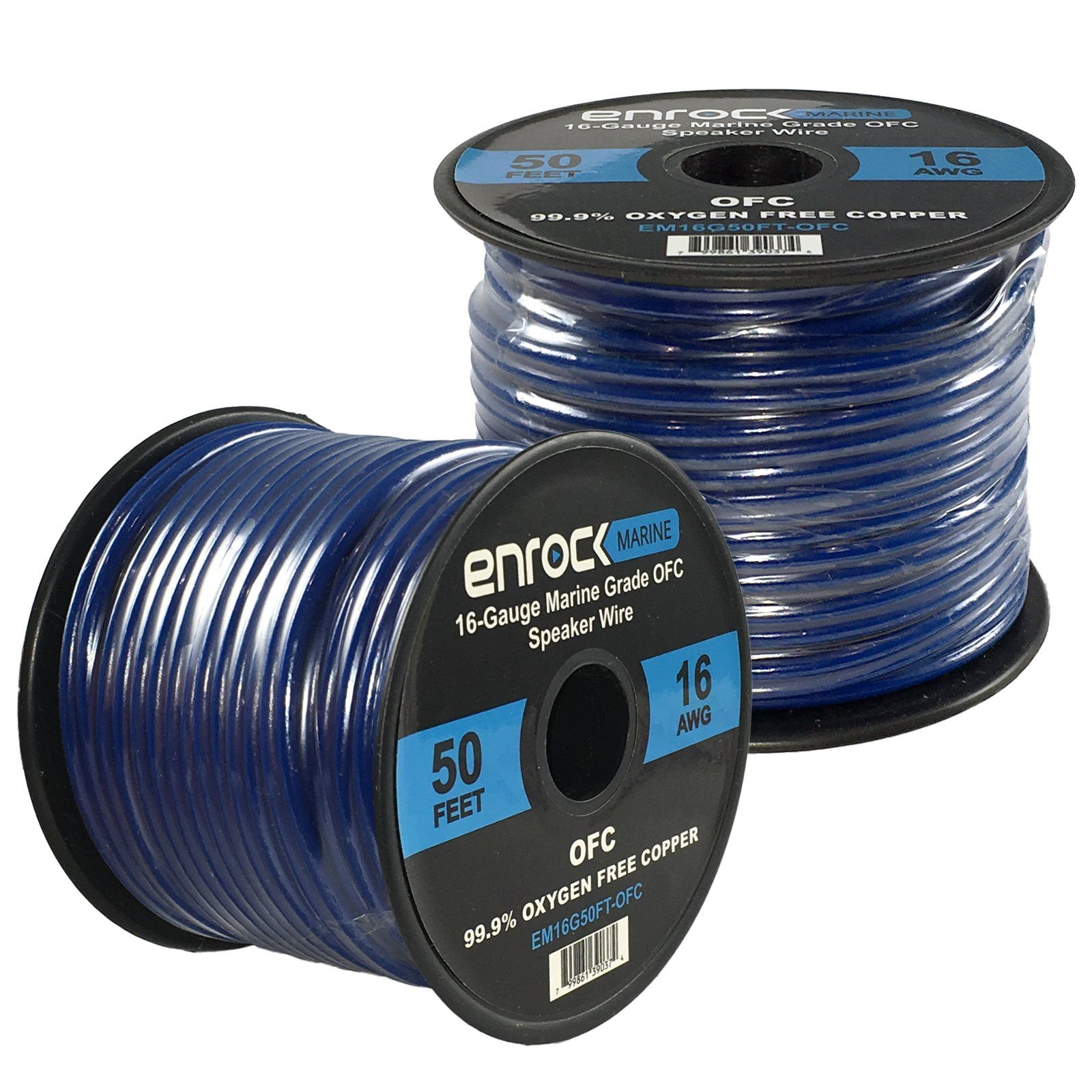 2 Roll Of 50ft EnrockMarine 16 Gauge Tin Plated OFC Speaker Wire Cable corrosion resistant jacket