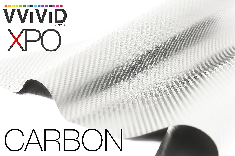 3ft x 5ft VViViD XPO White Carbon Fiber Car Wrap Vinyl Roll with Air Release Technology