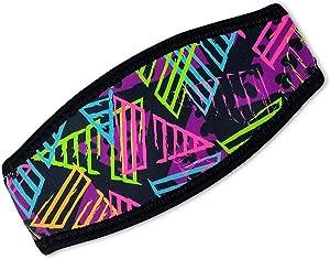 Flow Scuba Gear Diving Mask Slap Straps - Neoprene Cover for Dive and Snorkel Masks