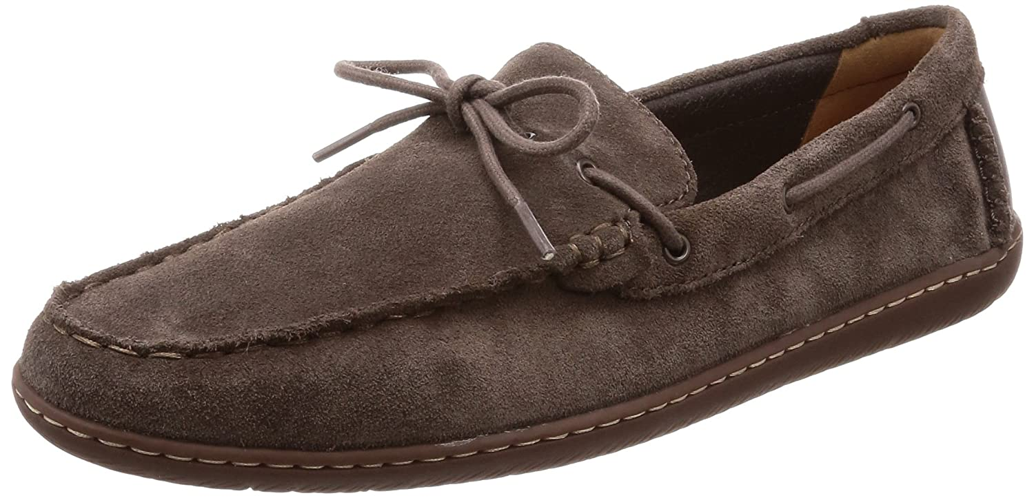 Clarks Saltash Edge, Mocasines para Hombre 44.5 EU|Gris (Dark Grey Sde)