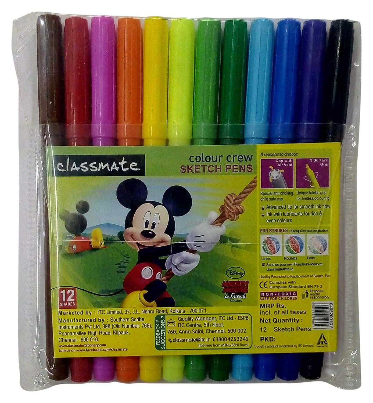 Classmate Sketch Pen - Pack of 12, Multicolor: Amazon in: Office
