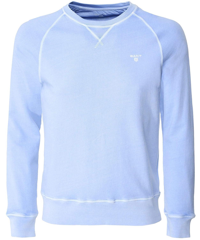 Bleu XXL Gant Hommes Sweat-Shirt Ras du Cou Bleu