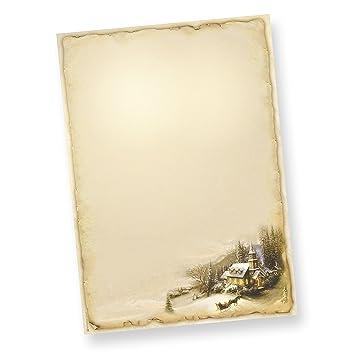 TATMOTIVE Winteridylle A4 90g 50 Blatt, Weihnachtliches Briefpapier ...