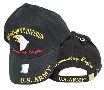 1e723f449 MWS U.S. Army 101st Airborne Division Screaming Eagles Black Cap HAT 3D  4-04-