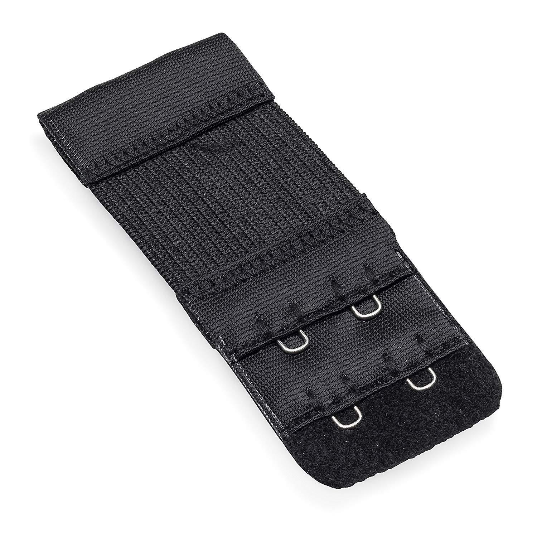 Pack of 6 Bra Strap Extenders Fastener Extensions Women Soft Comfortable Elastic Extender Set 2 Hooks//3 Hooks//4 Hooks Black Beige White