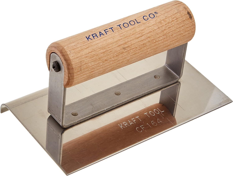 "Kraft Tool Concrete Edger Stainless Steel 8/"" x 5/"" x 1//2/"" Radius"