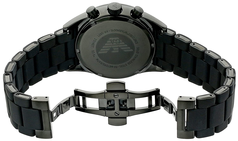 Amazon.com: Emporio Armani Mens AR5921 Sport Black Silicone Watch: Emporio Armani: Watches