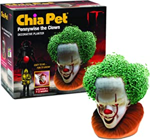Chia CP423-01 IT Pennywise Decorative Pottery Planter, Easy to Do and Fun to Grow
