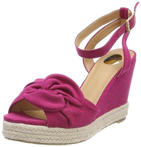 eaf23db1d344 Buffalo Women s 316993 Bhwmd B619  IMI Sued Ankle Strap Sandals ...
