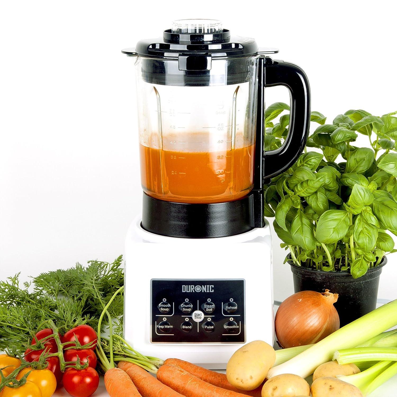 Duronic BL89 Frullatore soup maker multifunzione Blender mixer lame 4 coltelli acciaio INOX funzione cottura a vapore e bollitore; caraffa da 1.75L