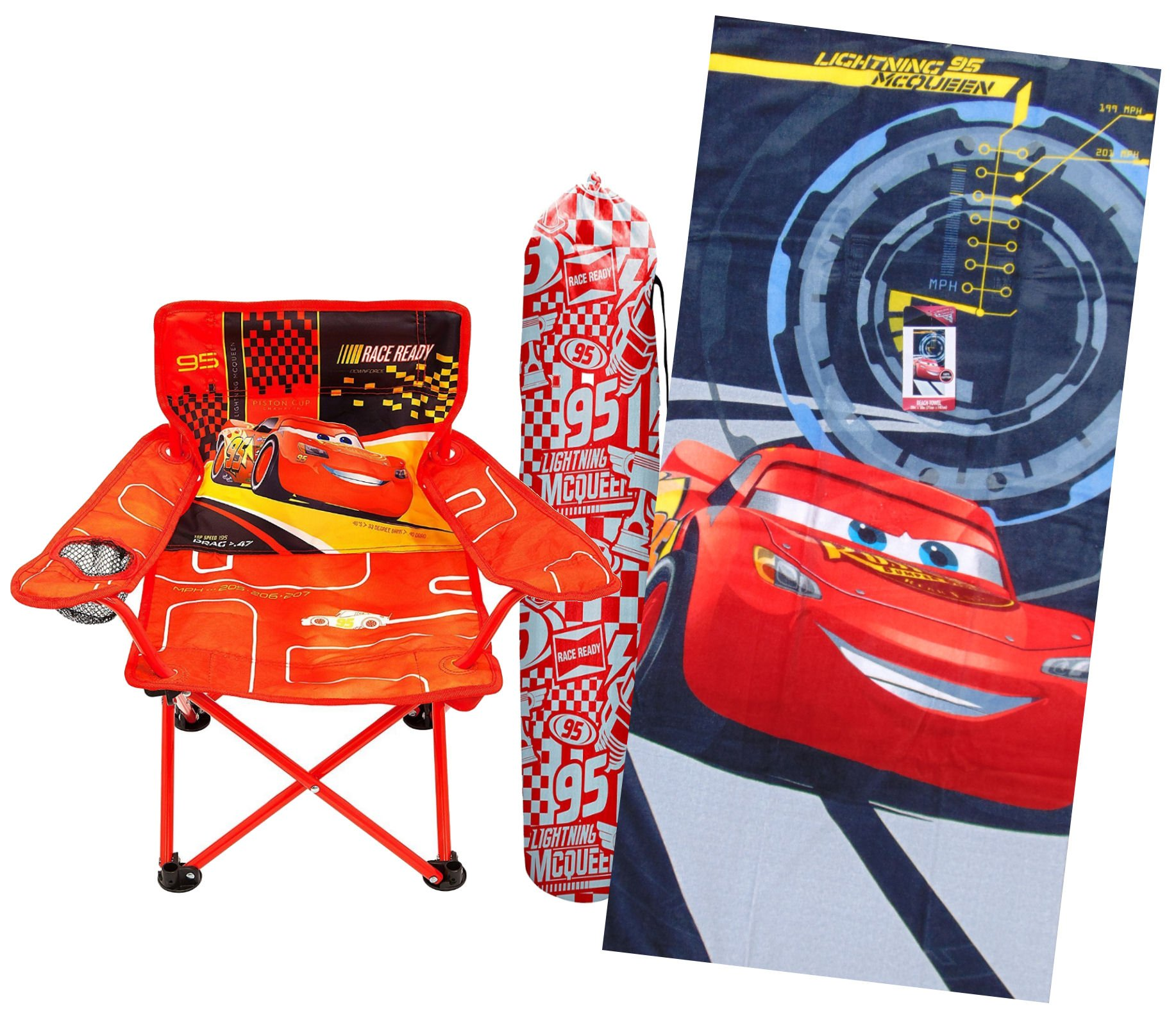 Galleon - Cars 3 Fold N Go Chair And Lightning McQueen Beach Towel Bundle Of Two Items  sc 1 st  Galleon.ph & Galleon - Cars 3 Fold N Go Chair And Lightning McQueen Beach Towel ...