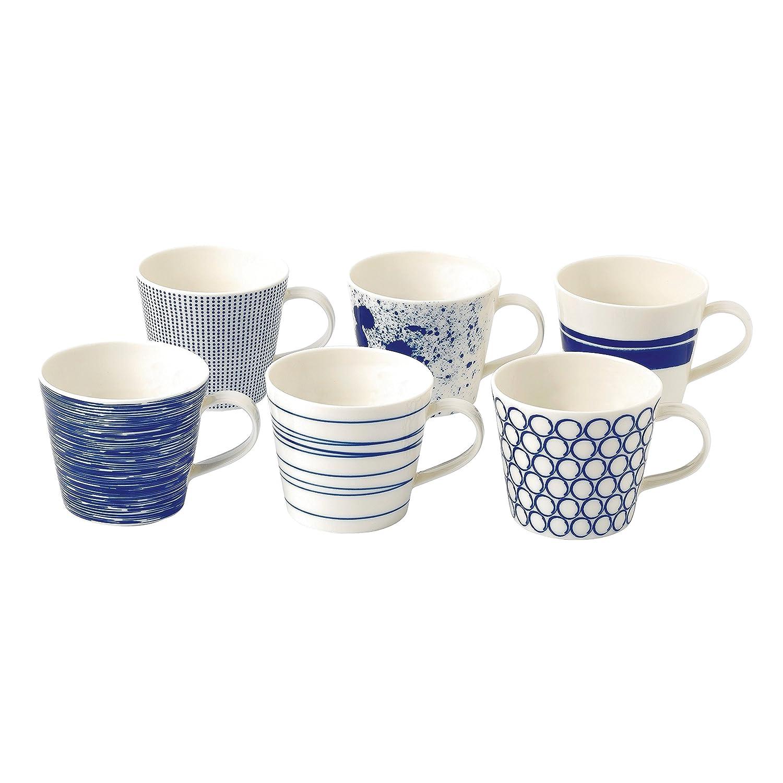 amazoncom  royal doulton pacific accent mugs blue set of   - amazoncom  royal doulton pacific accent mugs blue set of  coffee cups mugs
