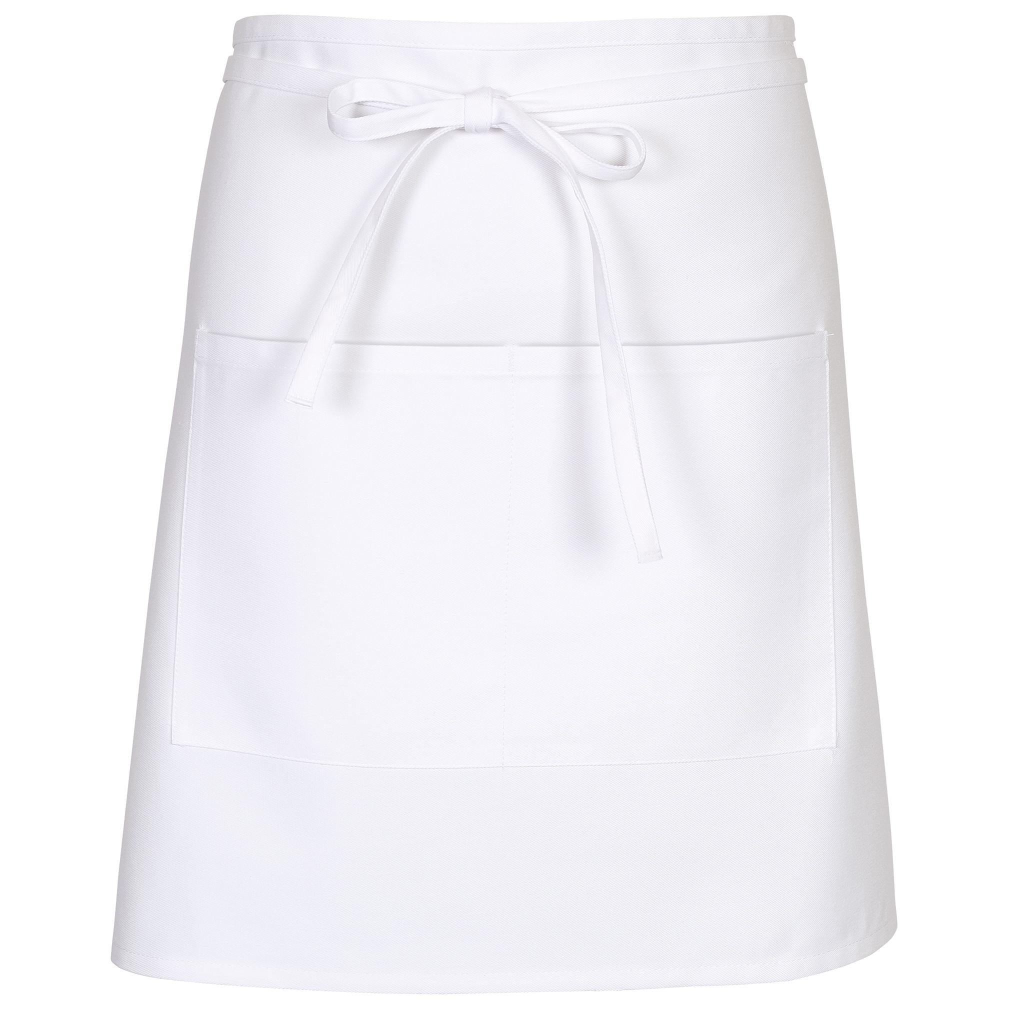 Chef Works Mens Half Bistro Server Apron, White, 19-Inch Length by 30-Inch Width