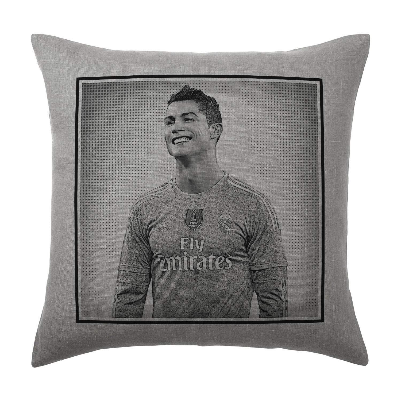 Cristiano Ronaldo cojín almohada - gris plata - Pop Art ...