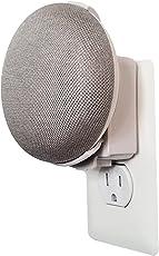 Dot Genie Google Home Mini Backpack: el soporte para montaje en pared de salida más sencillo y más limpio para mini asistentes de voz domésticos de Google: no se requiere envoltura de cable - Diseñado en EE. UU. (Blanco)