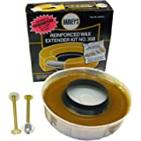 LASCO Toilet Bowl Extra Thick Wax Ring with Brass Bolts Reinforced Urethane Core and Polyethylene Flange - 516545