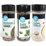 Amazon Brand - Happy Belly Mediterranean Spices Set: Oregano, Basil, Granulated Garlic