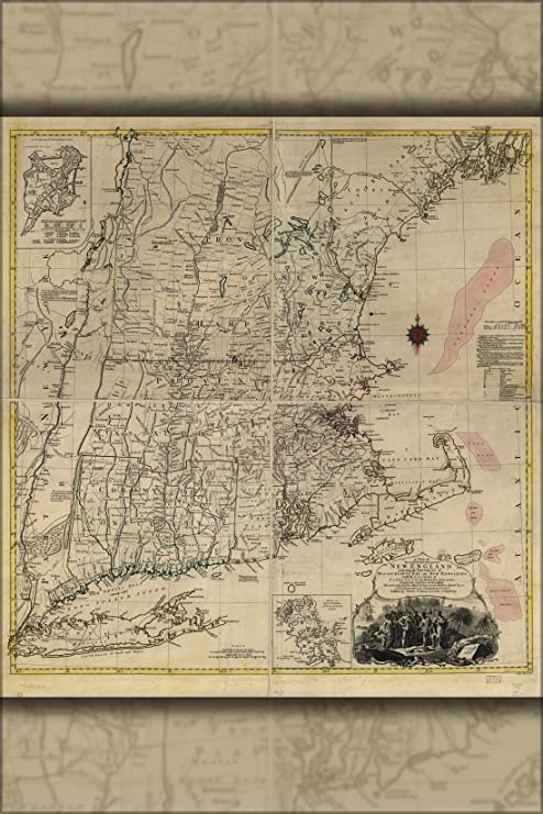 Amazon.com : 16x24 Poster; Map Of New England 1776 ... on map of long island 1776, map of north america 1776, map of nantucket 1776, map of manhattan 1776, map of africa 1776, map of germany 1776, map of great britain 1776, map of american colonies 1776, map of mexico 1776, map of united states 1776, map of texas 1776, map of dorchester heights 1776, map of california 1776, map of massachusetts 1776, map of philadelphia 1776, map of alaska 1776, map of canada 1776, map of russia 1776, map of trenton 1776, map of virginia 1776,